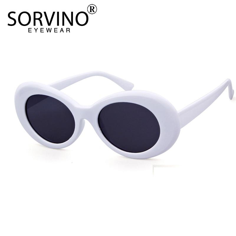 SORVINO Vintage Kurt Cobain Brille Oval Sonnenbrille Frauen Männer Marke Designer Sonnenbrille Gelb Rosa Lila Shades Oculos SVN75