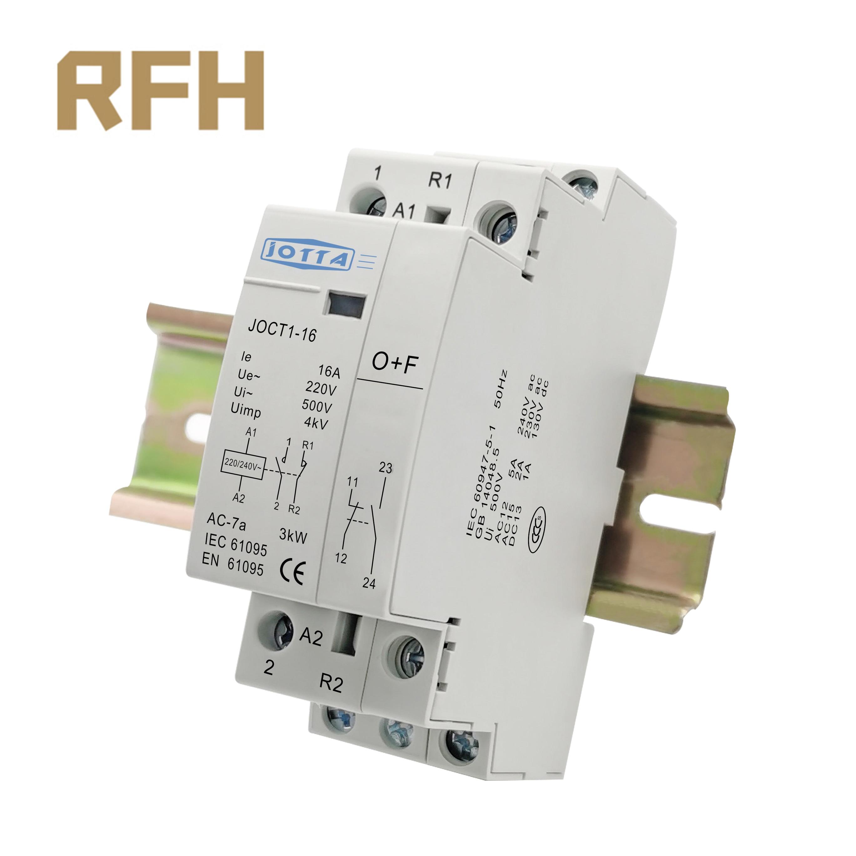2P 16A/20A/25A 220V/230V 50/60HZ, carril Din hogar Ac Contactor 1NO 1NC/2NO/2NC