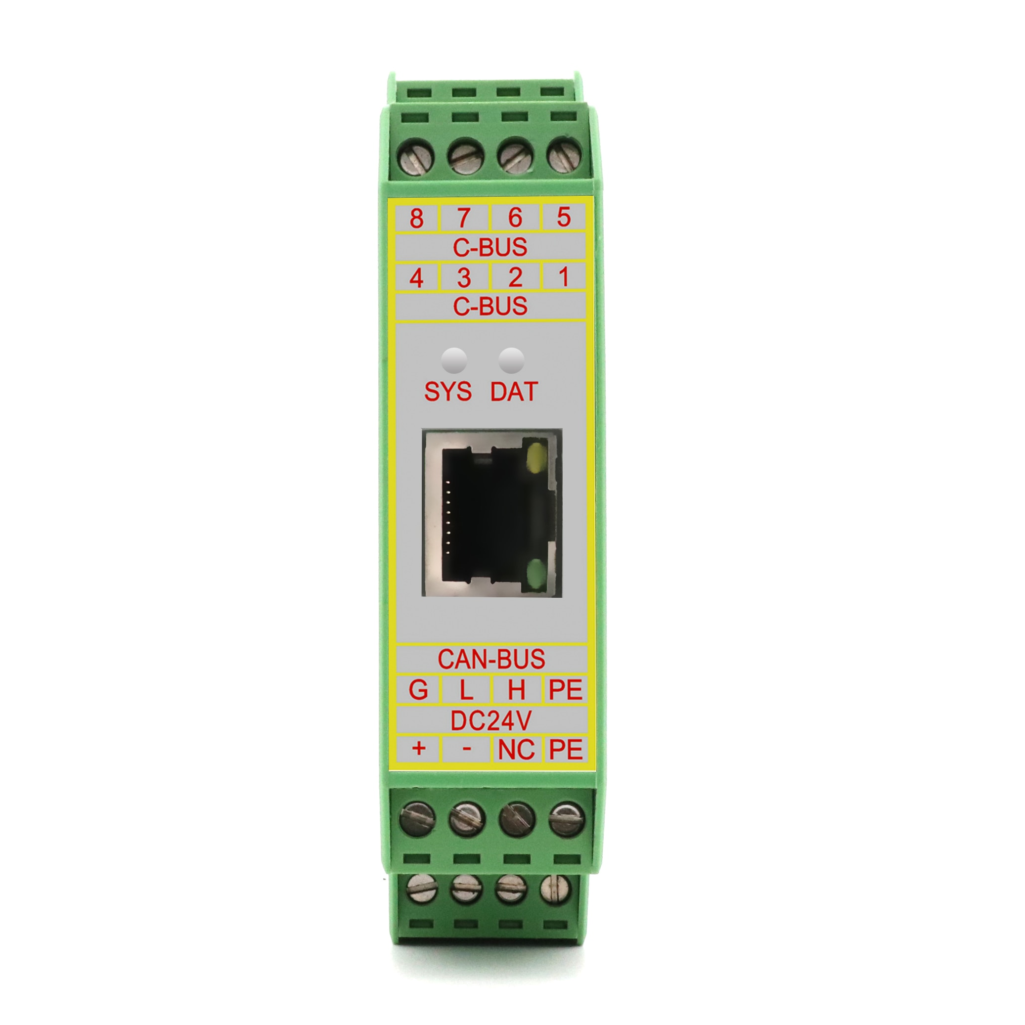 GCAN-205 CAN-Bus and ethernet converter integrated Modbus TCP/ RTU slave protocol convert data between CAN-Bus and Modbus TCP. enlarge