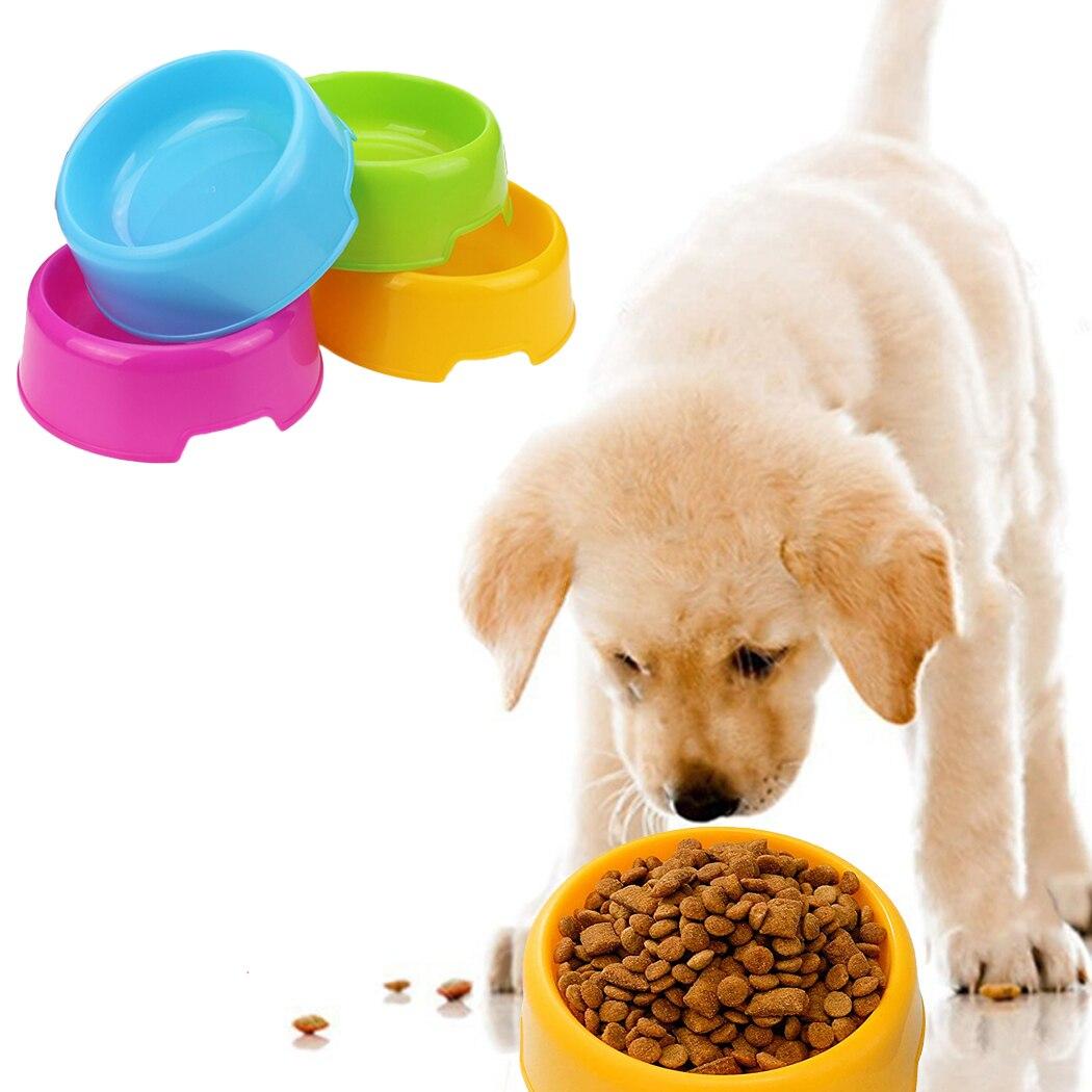 Cuencos de plástico para perros de colores caramelo multiuso seguro, alimentación de agua, alimentador para cachorros, gatos, perros, suministros de Alimentación de Mascotas