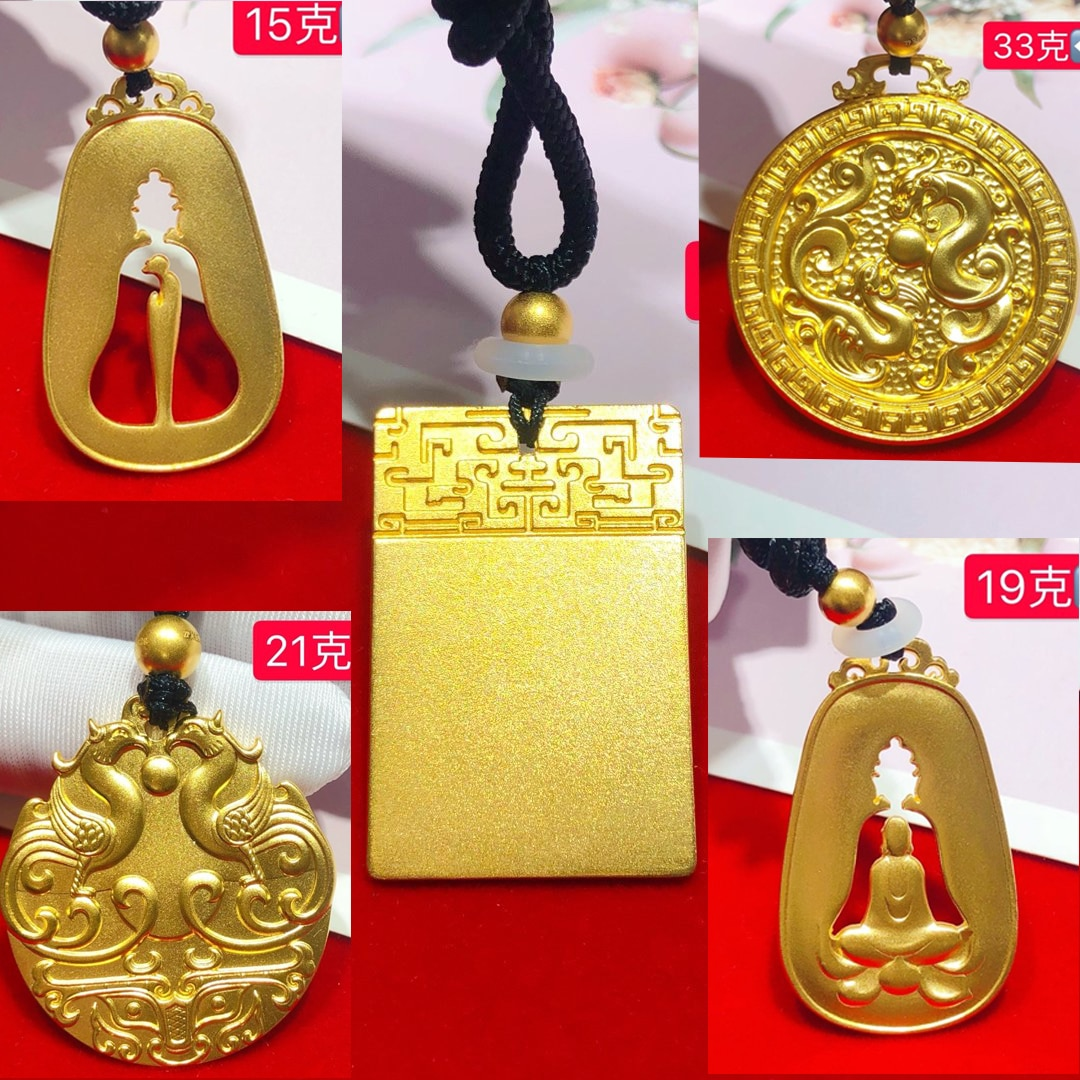 HX 24K Pure Gold Pendant Real AU 999 Solid Gold Charm Nice Shiny Heart Upscale Trendy Classic Fine Jewelry Hot Sell New 2020