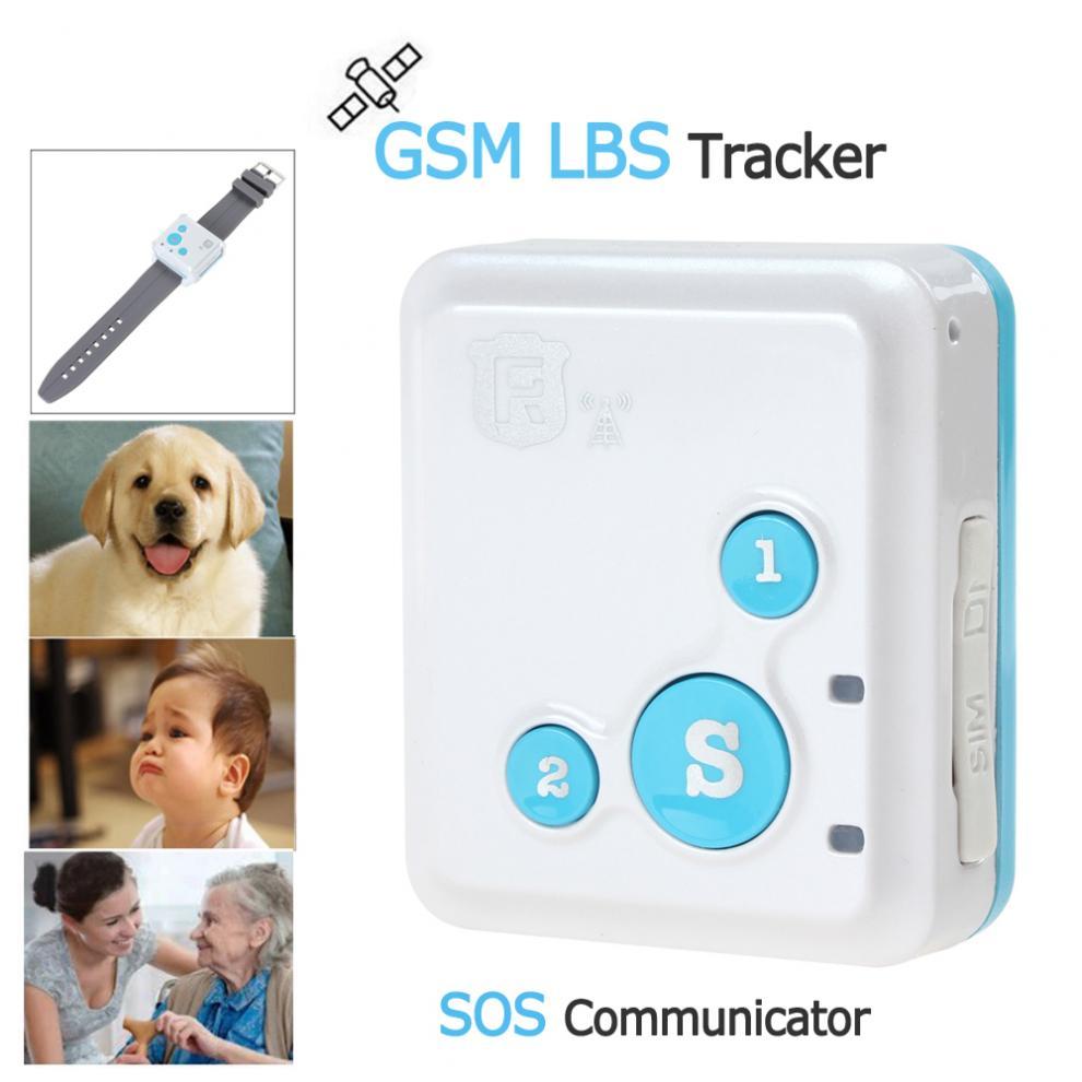 Portátil RF-V18 gsm rastreador lbs sos comunicador com pulseira de relógio colar estilo cordão