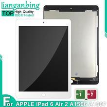 LCD de 9,7 pulgadas para Apple ipad Air 2 ipad 6 A1567 A1566 pantalla Lcd completa con Digitalizador de pantalla táctil montaje de panel completo + adhesivo