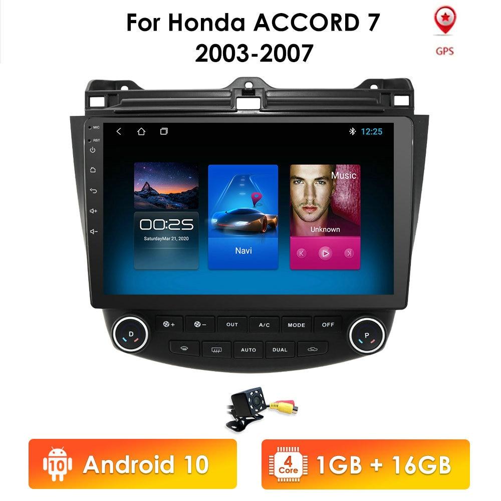 Ossuret 10.1 Android 10 Car radio GPS Navigation for Honda ACCORD 7 2003-2007 Multimedia DVR SWC FM CAM-IN BT USB DAB DTV OBD PC