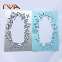 paper craft butterfly frame metal cutting dies animal rectangle frame suit for all cutting embossing machines