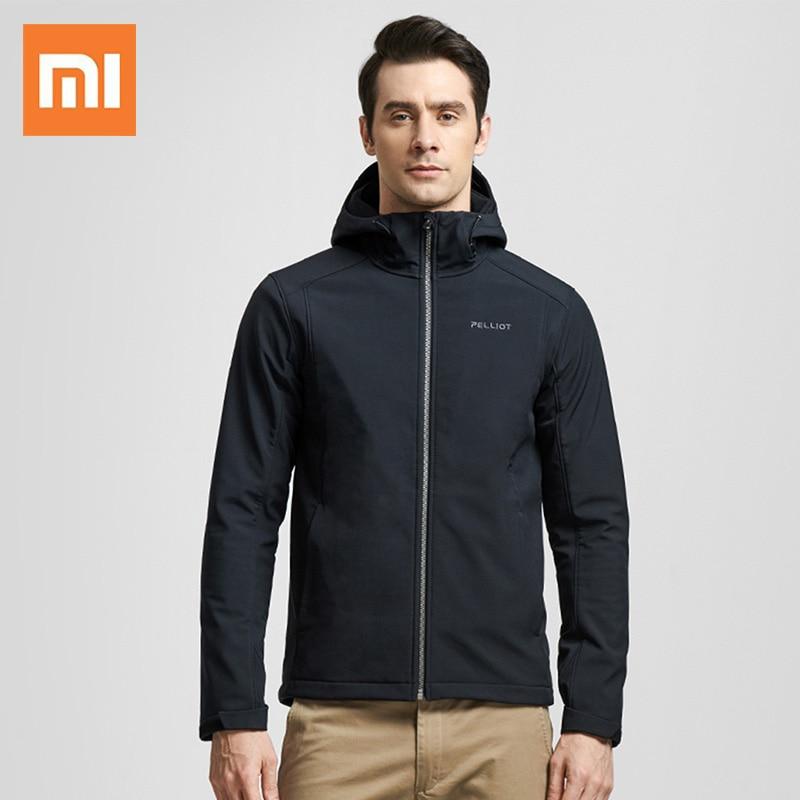 جاكيت شتوي أصلي Xiaomi PELLIOT, معطف شتوي دافئ ، ناعم ، تصميم صدفي ، ترموستات ، تقنية ، صوف ، دافئ ، ملابس دافئة ذكية