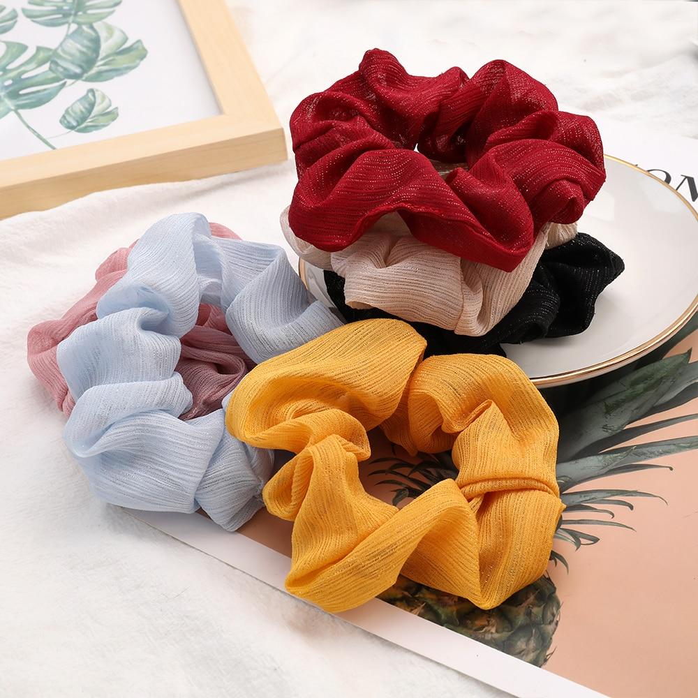 GDTomorrow, bandas elásticas para el pelo de terciopelo para mujer, bandas para el pelo de Color sólido, diademas para niñas, lazos para el pelo