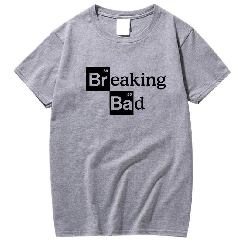 Camisetas de alta calidad XIN YI para hombre, camisetas de algodón con cuello redondo, Camiseta con estampado de manga corta para hombre, camiseta Casual con estampado de Breaking Bad para hombre