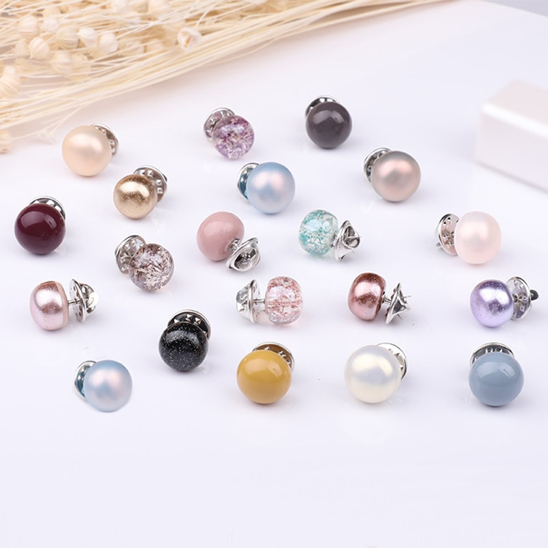 10 Pcs Brooch Set Pearl Rhinestones Brooch Colourful Lapel Pin Shirt Sweater Accessories Prevent Exposure Brooches for Women