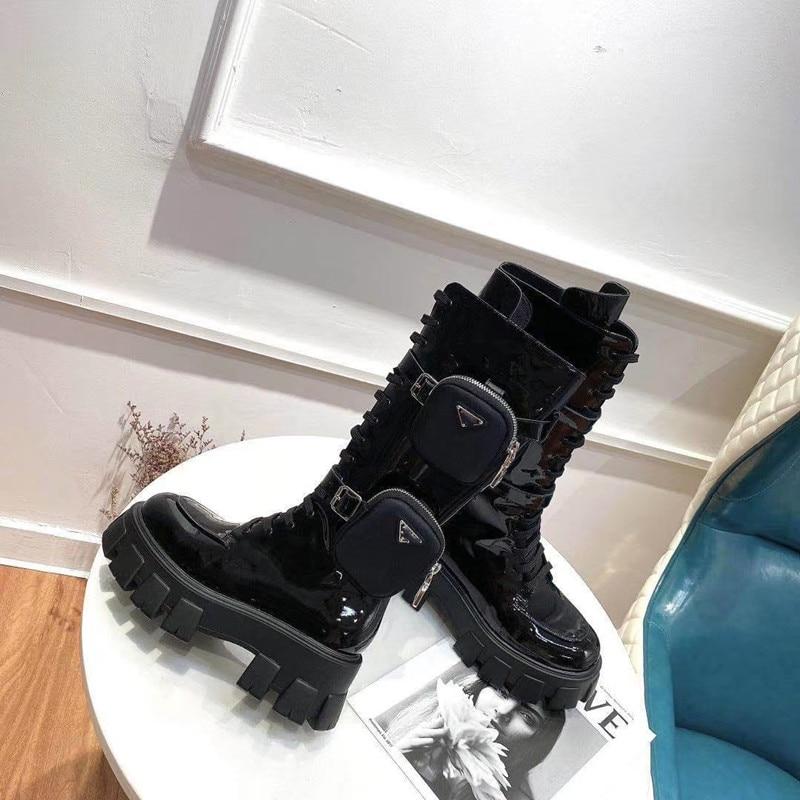 Botas femininas confortáveis botas de couro genuíno botas de couro genuíno botas de combate de mo