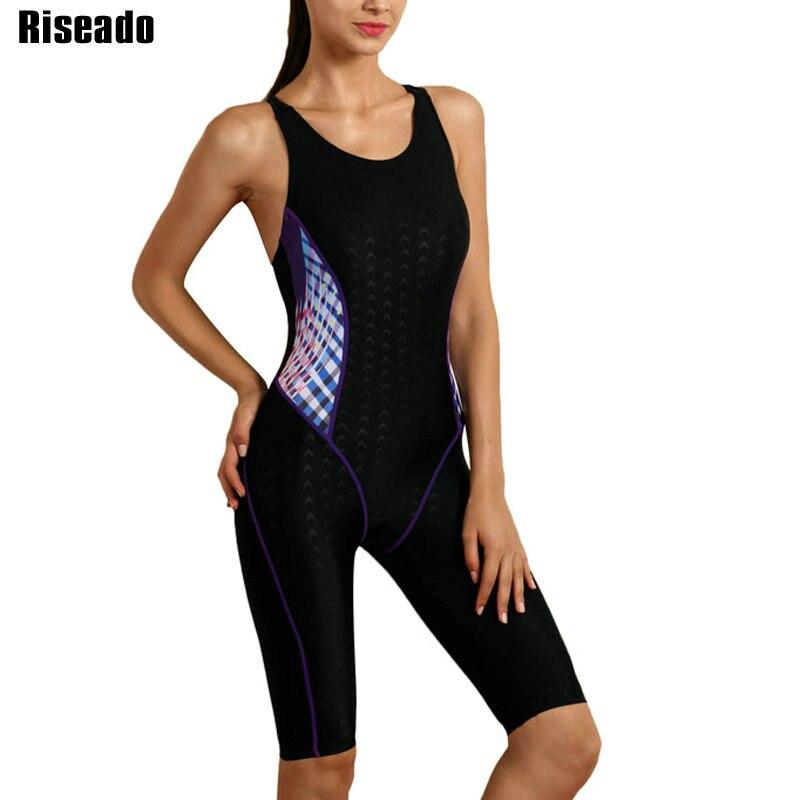 Traje de baño deportivo Riseado de una pieza, traje de baño competitivo para mujer, traje de baño 2019 con retazos, trajes de baño con espalda cruzada