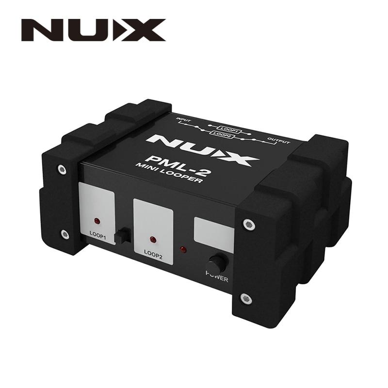 NUX PML-2 Mini Looper True Bypass дизайн мини двойной Looper линия селектор переключатель A/B сигнал MIDI функция дистанционного управления