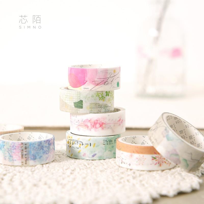 2 pces/1 lote washi máscaras fitas naturais excedente decorativo adesivo scrapbooking diy papel japonês adesivos 5 m