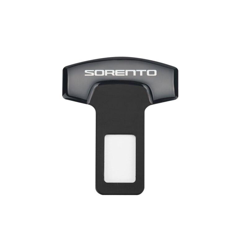 Aleación de aluminio hebillas del cinturón del coche cinturón de seguridad del asiento del coche cancelador de alarma tapón para KIA SORENTO 2011-2018 accesorios del coche