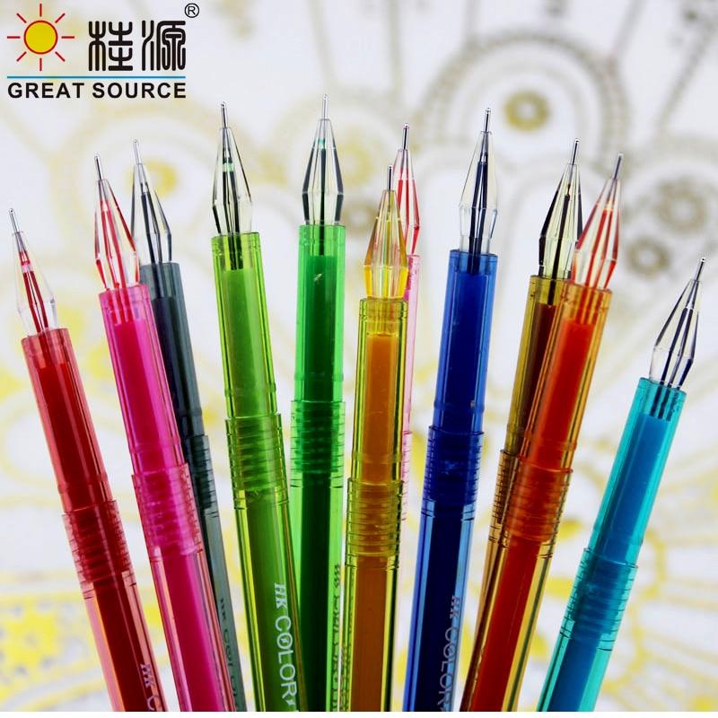 12 Colors Colorful Case Gel Pen Diamond Head Gel Pen Color Inks(1Set)