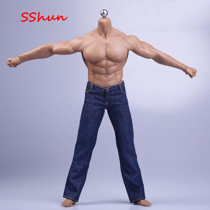 سترة جينز للرجال ، مقاس 1/6 ، دمية جندي ، فضفاضة ، مناسبة للعضلات المطاطية والجسم القوي ، PH TBL M35