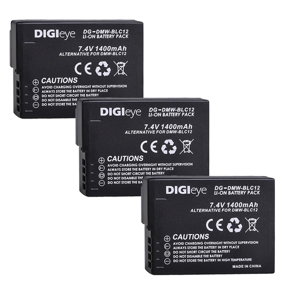 Baterías DMW-BLC12 BLC12E BLC12PP DMWBLC12 para Panasonic, Lumix, DMC-G5, G6, G7, GX8,...