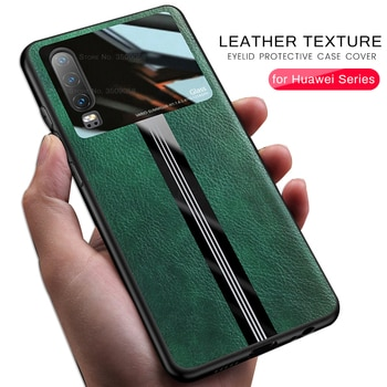 pu leather plexiglass protective case for Huawei mate 20 30 pro p20 p30 p40 lite light nova 5t y9 prime y9s p smart z 2019 coque