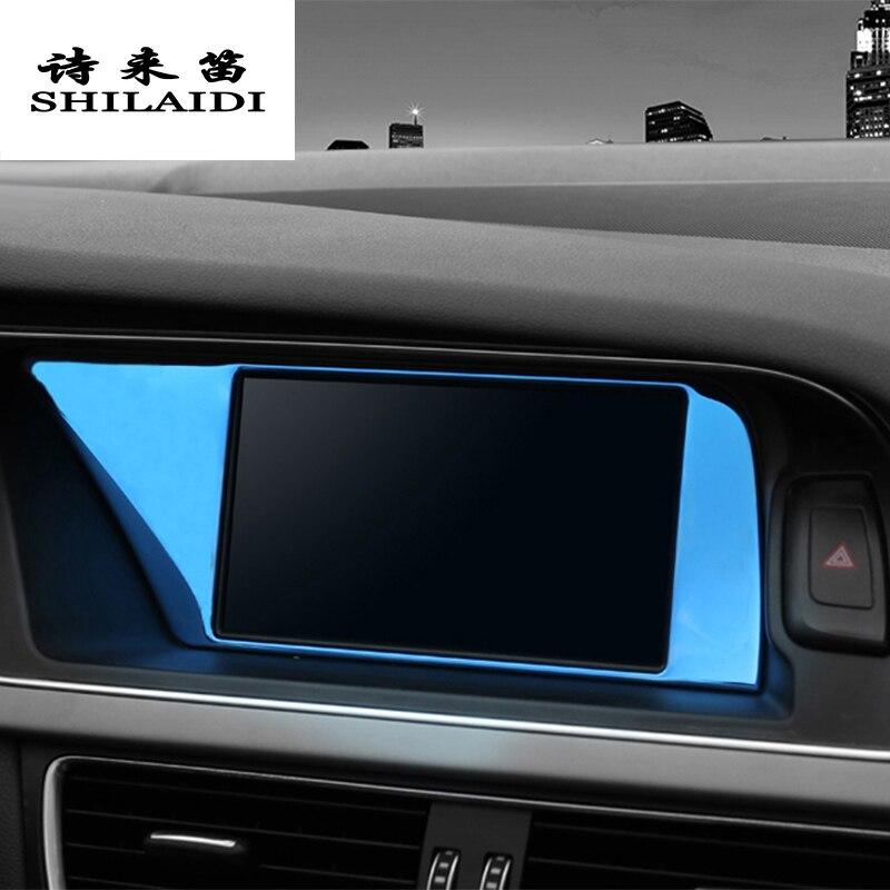 Автомобильный стайлинговый центр контроль навигации защита экрана Чехлы наклейки отделка панели для Audi A4 B8 A5 интерьер авто аксессуары
