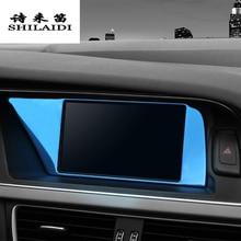 Cubierta de protección de pantalla de navegación de Control central de estilo de coche pegatinas Panel de ajuste para Audi A4 B8 A5 accesorios de automóviles interiores