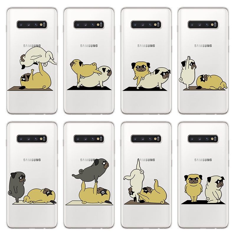 Para Samsung Galaxy Nota 9 5 10 Pro 8 J7 Max 4 J5 J4 J6 más J8 primer 2017 Duo 2018 2016 suave TPU de silicona perro