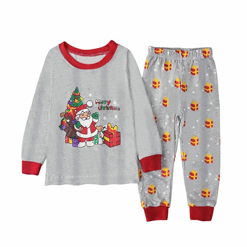 Осень зима 2020, Новый рождественский костюм хлопковая домашняя одежда для отдыха для малышей милые детские костюмы с принтом для девочек комплект из 2 предметов для маленьких мальчиков|Комплекты пижам| | АлиЭкспресс