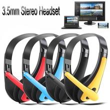 1PC Hohe Qualität 3,5mm Mikrofon Headset Noise Cancelling Stereo Headset Kopf Kopfhörer Ohrhörer Für PC Computer Telefon