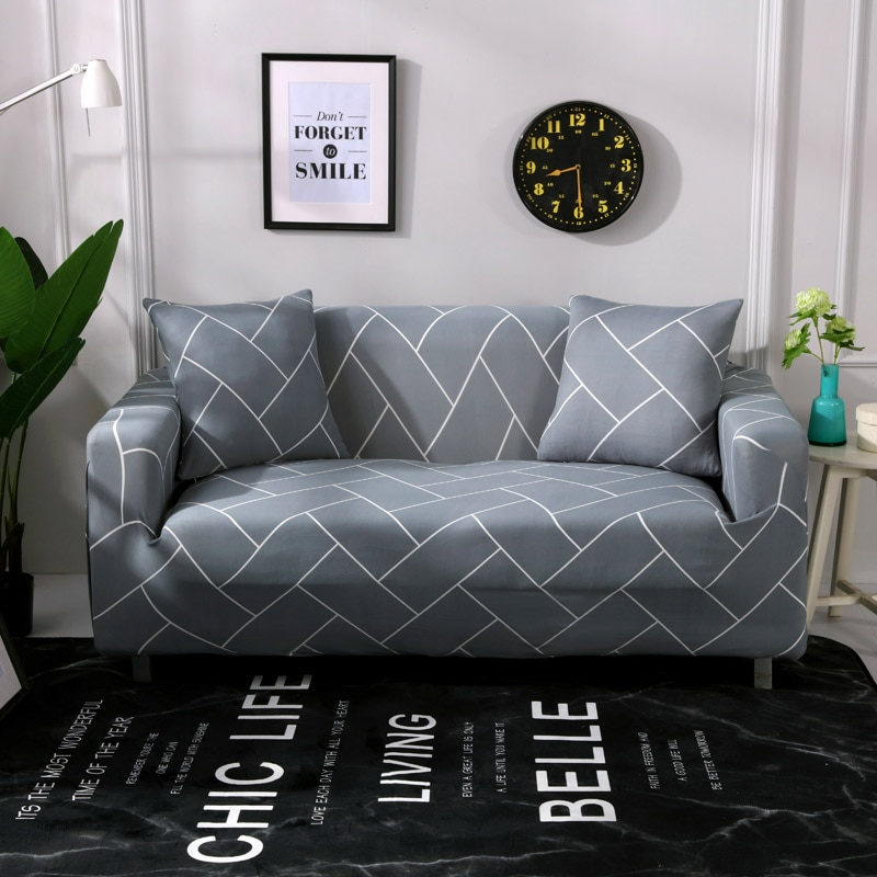 Striped Printed Sofa Covers for Living Room Modern Three-seat Sofa Elastic Slipcovers Great Flexibility Copridivano