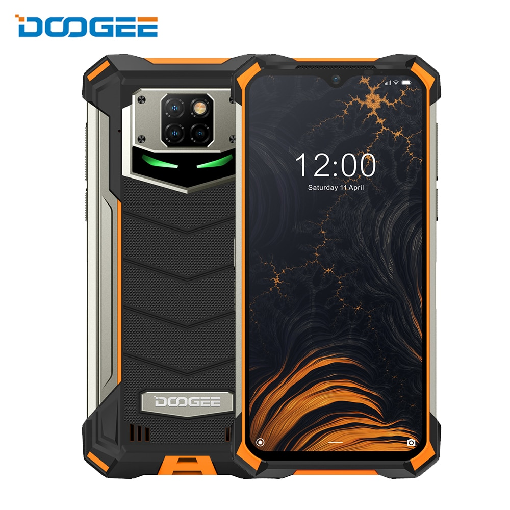 DOOGEE S88 Pro IP68/IP69K  Android 10 Rugged Phone 10000mAh Battery Quick Changing Helio P70 Octa Core 6GB RAM 128GB ROM NFC