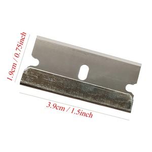 Image 5 - CNGZSY 100 шт. металлические лезвия, безопасная бритва, скребок, клей нож, очиститель стекла, сменные лезвия из углеродистой стали, автомобильные аксессуары E13