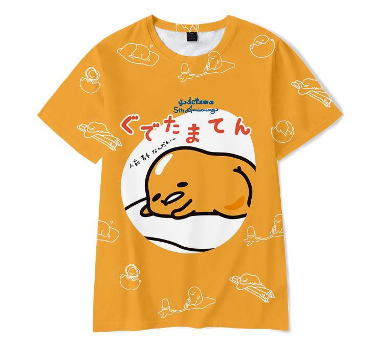 Nueva camiseta linda de gudetama, camiseta de Anime para hombre, Camiseta con estampado 3D para niño y niña, camisetas de manga corta