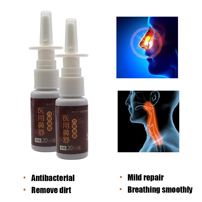 Traditional Medical Nasal Spray Relieve Symptoms Of Rhinitis and Sinusitis ,Itchy Nose Congestion Swelling Health Care Plaster