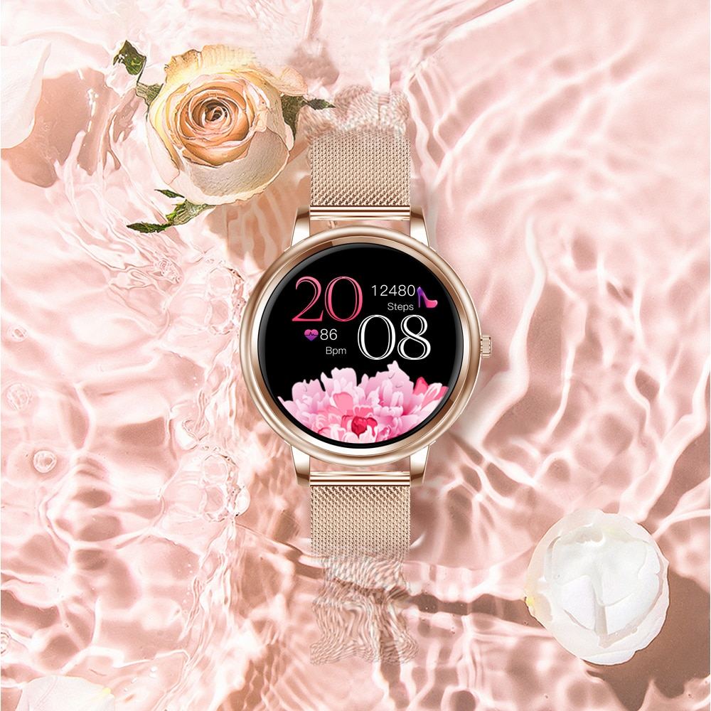 Watches Watch MK20 Smart Watch 2021 Full Touch Screen 39mm diameter Women Smartwatch for Women And Girls Compatible With enlarge