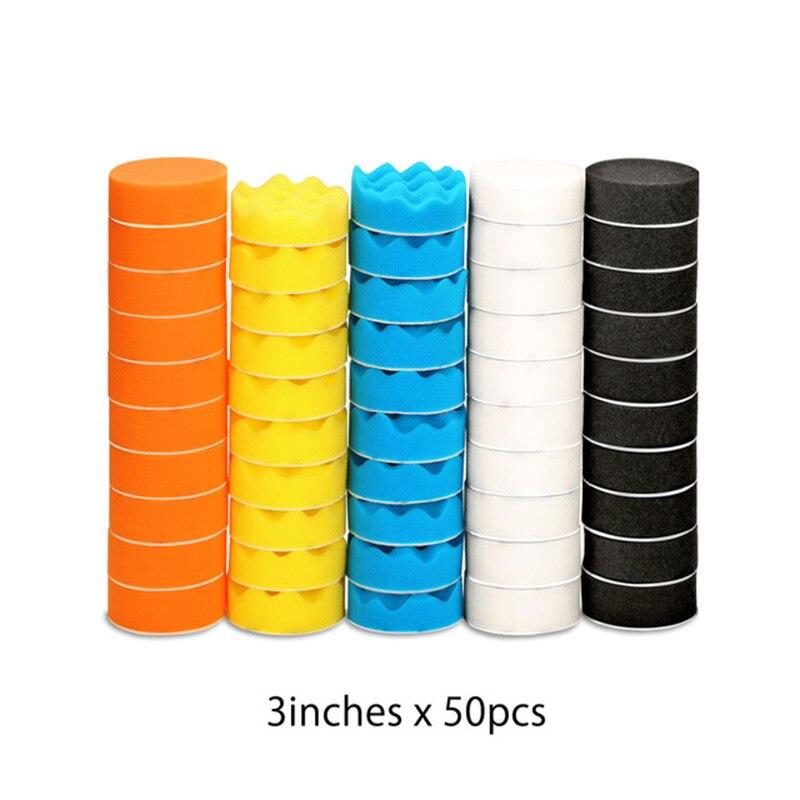 50 шт., автомобильные полировальные диски 3 дюйма/75 мм