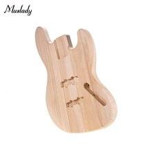 Muslady JB-T02 non fini guitare corps bricolage pièces Platane bois blanc guitare baril pour JB Style basse guitares guitare accessoires