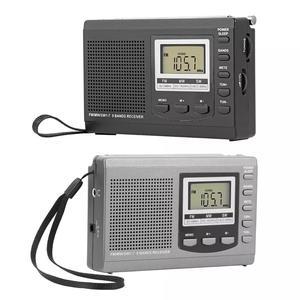 Protable Radio FM MW SW Digital Alarm Clock FM Radio Receiver with Earphone