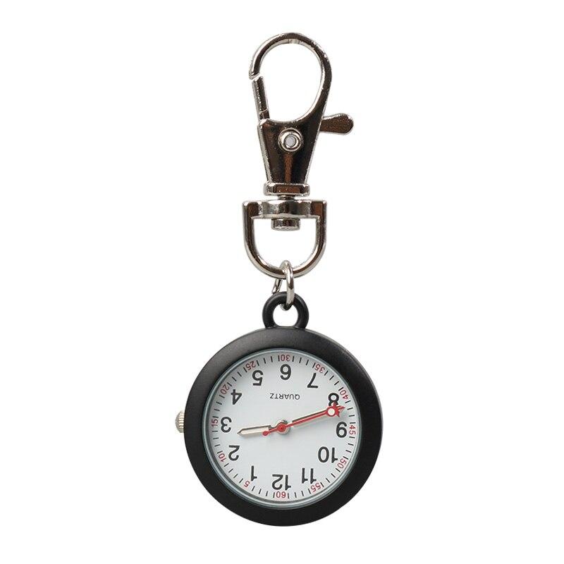 ALK FOB Nurse Pocket Watch Black Nurse Watch Keychain Hospital Clock Pink Luminous Watches Doctor Nursing Gift Dropshipping Hots фото