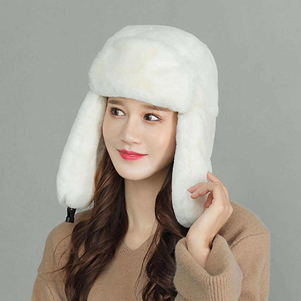 Mujeres bombardero sombrero grueso a prueba de frío a prueba de viento gorra al aire libre invierno ciclismo sombrero nuevo
