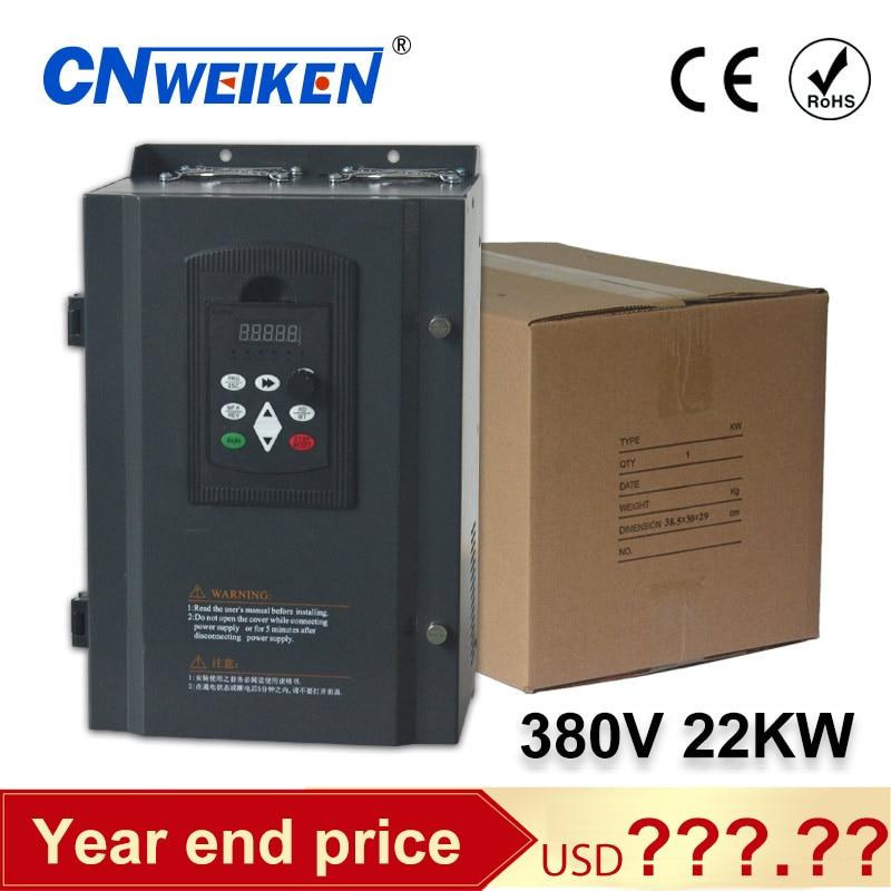 Конвертер переменной частоты 22Kw 30HP перегруженные-регулируемым приводом сертификации диск с частотно-регулируемым приводом 3 фазы 380V инвертор вектора