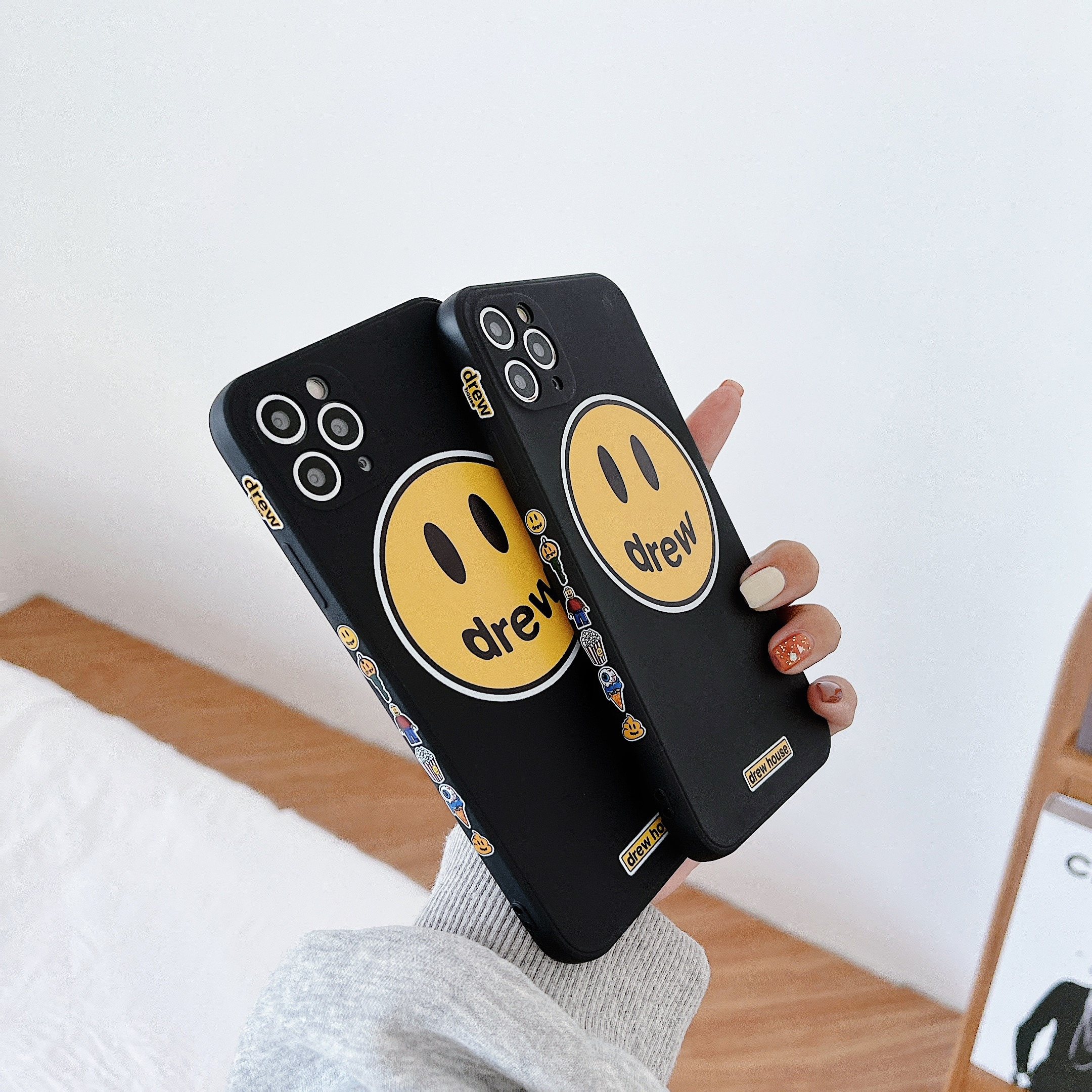 Soft Silicone Protection drop proof phone case for iPhone 11 12 pro Max x xs max xr 7 8p Luxury shel