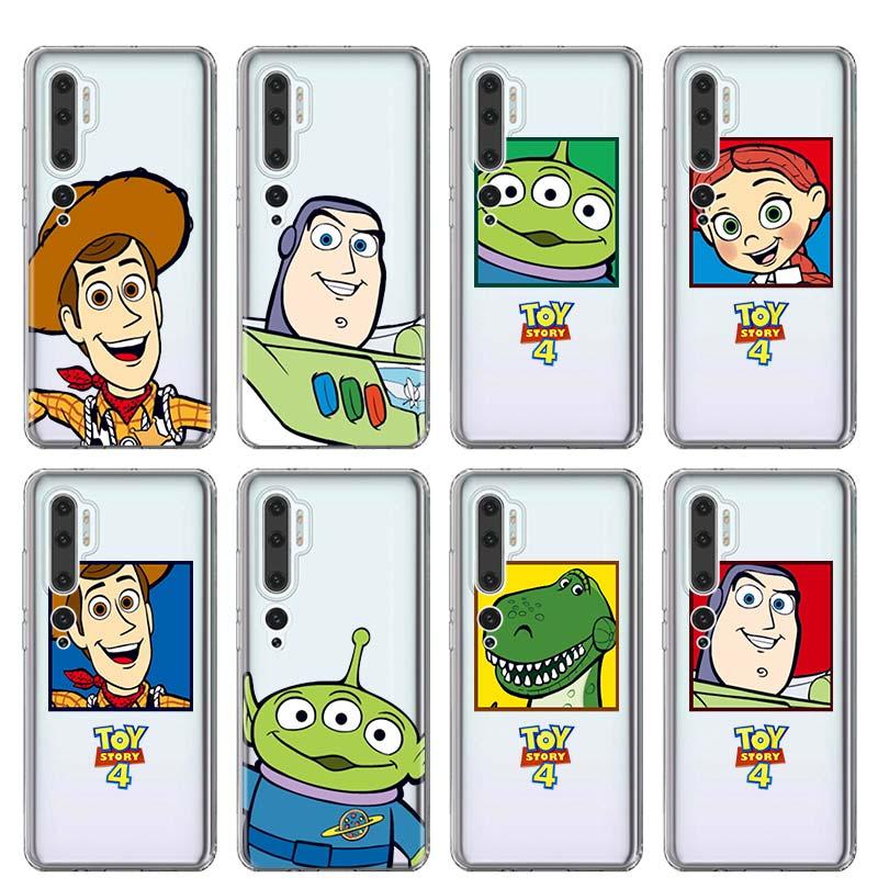 Bonito dos desenhos animados caso de telefone história brinquedo para xiaomi mi 9 10 pro 9 t 8 nota lite 10 pro cc9 a3 poco x2 f2 pro silicone capa