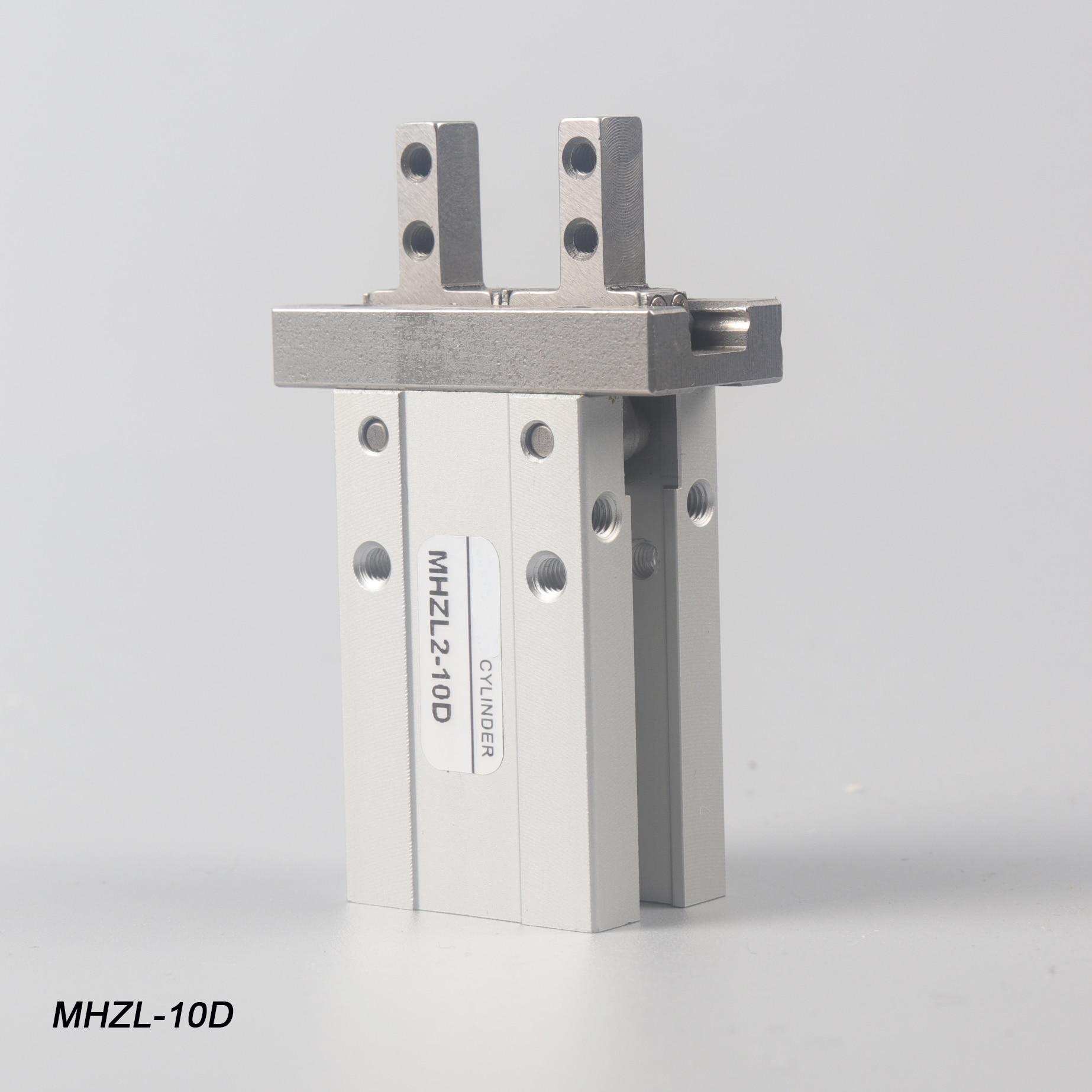 1 pces mhzl2 10d dupla ação ar prendedor pneumático tipo smc cilindro de dedo braçadeiras alumínio automação para máquinas máscara