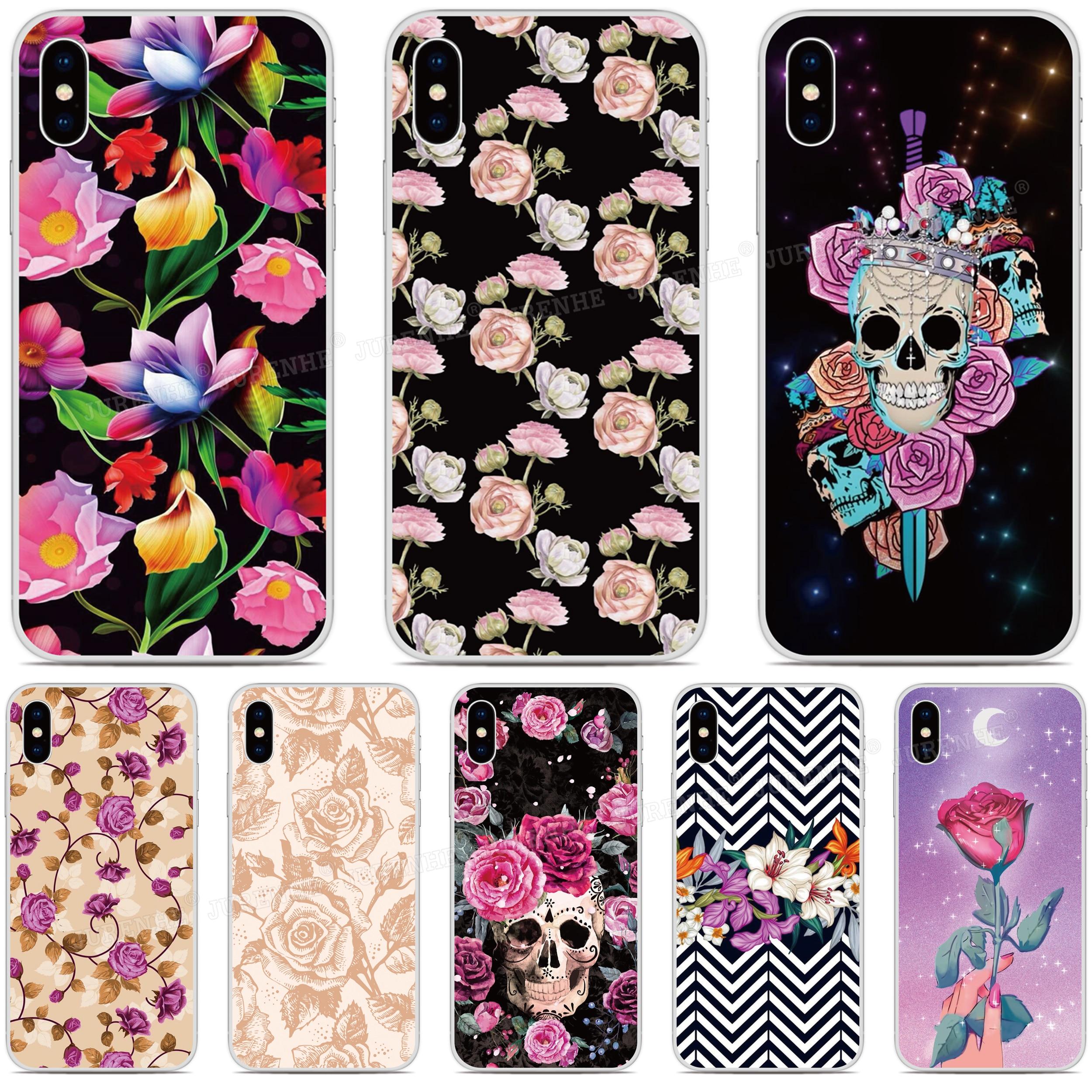 tpu Soft Silicone Beautiful Flower Phone Case For Motorola-Moto E7 G8 Play G Stylus G7 Power E6 Plus One Macro Rubber Back Cover