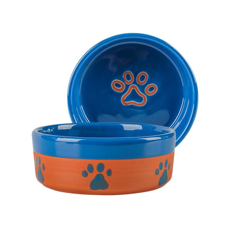 Dog Bowl Ceramics Pet Feeding Tableware Water Bowl for Pet Cat Puppy Food Thickening Water Dish