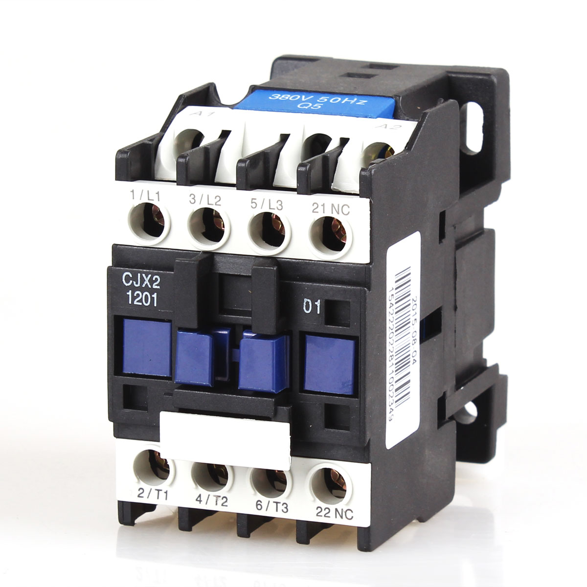 CJX2-1201 12A 3 P + NC Магнитный Ac Электрический 3-полюсный контактор для блока 3 фазы 380 В 220 В 110 в 36 в 24 В нормально закрытый контактор