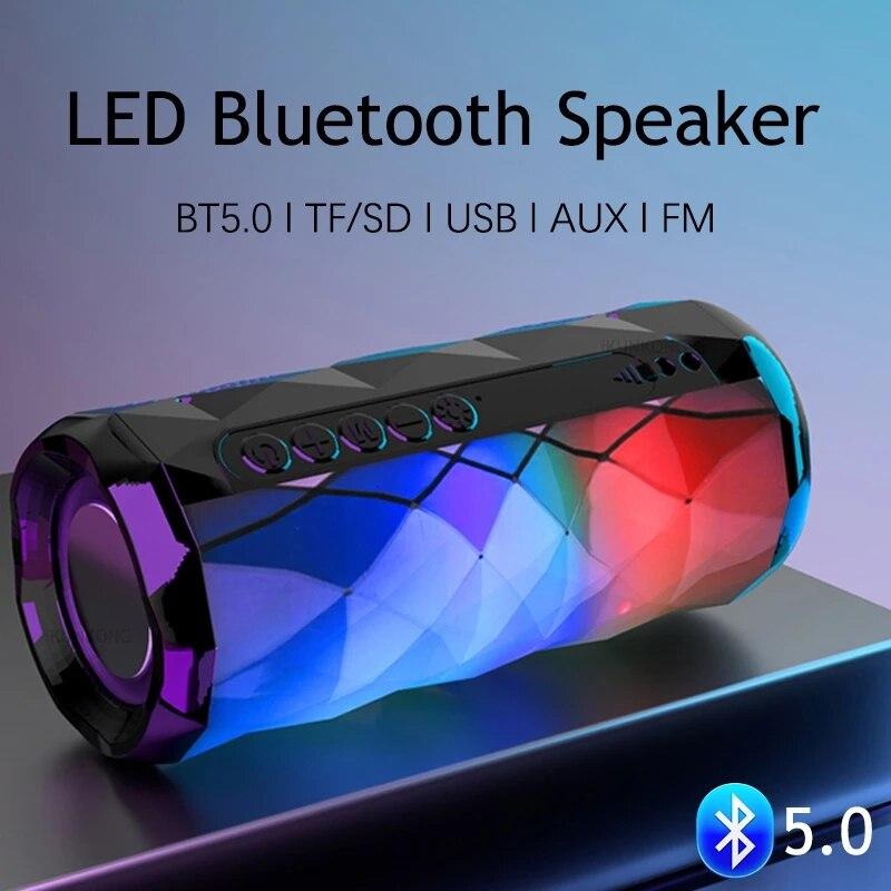 Altavoces Bluetooth con luz LED para cine en casa, reproductor De música...