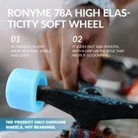 ronyme 4pcs 78a abec 9 longboard wheels high performance pu skateboard wheels roller wheels mini cruiser replacement wheels
