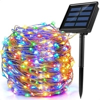 holiday light 8 modes outdoor solar string fairy lights 10m 20m led solar lamp waterproof christmas decoration for garden street