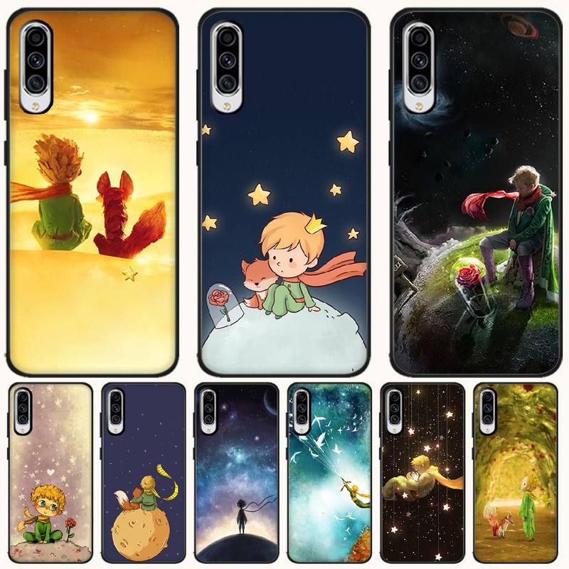 Viviana Anime Little Prince Cover Black Soft Shell Phone Case For Samsung A10 20 30 40 50 70 10S 20S 2 Core C8 A30S A50S