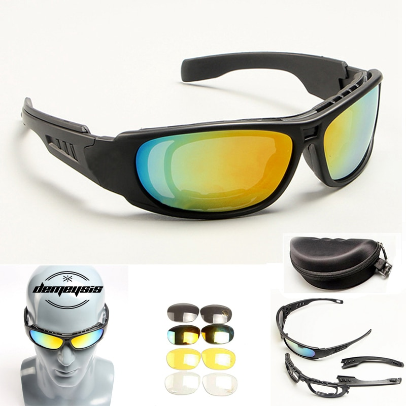 Gafas de sol polarizadas para ciclismo, protección UV400, gafas militares de caza, nuevas gafas de ciclismo